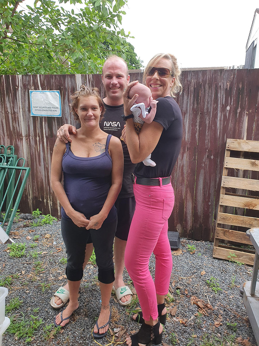 Jay, Emma, and their new arrival – Sapphire!